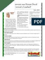 Boletin Nº  Hernia Discal