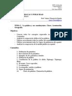 Lengua Española Tema 2