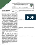 1°EVALUACIÓN DE PROCESO DE BIOLOGÍA II BIM 4° SEC 2014