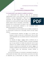 Sociologia de la comunicación de masas Tema 1