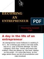 how to become  entrepreneur ppt