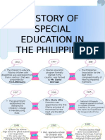 History of SPED in the Phil.