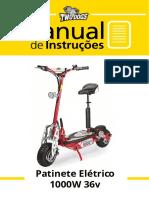 Manual Patinete Elétrico1000w 36v - TwoDogs