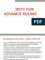AUTHORITY FOR ADVANCE RULING