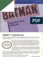 Batman - NES manual