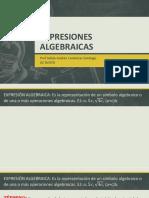 3- Inicio del álgebra expresiones algebraicas (Prof Juiàn C.S.).pdf