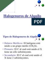 Teoria de Halogenuros de alquilo 2019