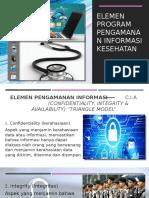 (Elemen program pengamanan informasi kesehatan)