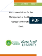 Recommendations for the Management of the Green Garage's Information Kiosk