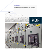 4 important factors related to proper application of a LV circuit breaker.docx