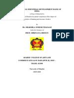 sharmila thange ROLE OF SIDBI PROJECT(2) (2).docx