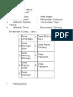 profil bojong gede