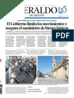 Heraldo de Aragón 15-03-20