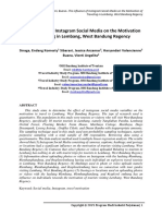 The Influence of Instagram Social Media on the Motivation of Traveling in Lembang, West Bandung Regency