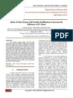 StudyOfSolarSystemWithPossibleModificationToIncreaseTheEfficiencyOfPVPanel