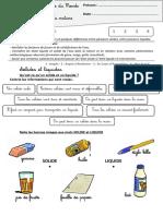 évaluation solide et liquide