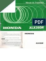 Manual Proprietário xlx350 r