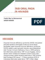 MANIFESTASI ORAL PADA PENDERITA HIV