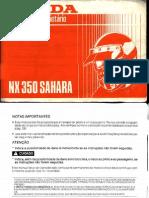NX350 MANUAL PROPRIETÁRIO Sahara