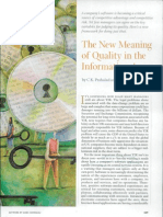The New Meaning of Quality in the Information Age