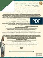 Formula da Consagração a Jesus por Maria