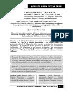 Enfoque Intercultural en El Procedimiento Administrativo Peruano - Autor José María Pacori Cari