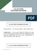 ACCIÓN REIVINDICATORIA