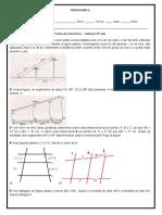 Reforço 9º ano - 2º lista de exercícios - Matemática - Joon