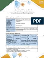 Guía de actividades y rúbrica de evaluación - Tarea 1 - Elementos teóricos de la Etnopsicología.docx