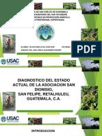 PRESENTACIÓN plan de servicios Asociación San Dionisio, San Felipe, Retalhuleu.