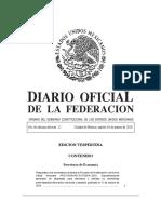 Diario Oficial de la Federación Mexicana 10032020