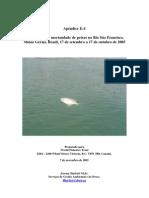 Investigação da mortandade de peixes no Rio São Francisco