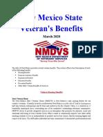Vet State Benefits - NM 2020