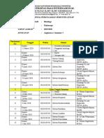 1.1 Jadwal Perkuliahan Histologi Fix.doc