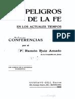 Los peligros de la fe en los tiempos actuales - R. Ruiz Amado