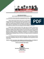 14mar2020 - Comité Central - Ante El Sensible Fallecimiento Del Sacerdote Mariano Puga