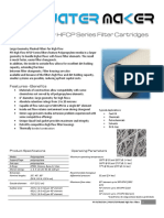 PFI Polypropylene High Flow HFCP Series Element Filter Cartridges