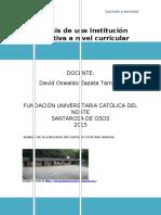Análisis de una Institución Educativa a nivel curricular
