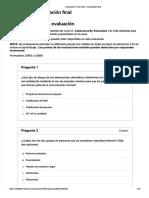 Instrucciones de la Evaluación