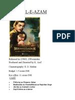 Mughal e Azam Review