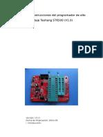 Manual de instrucciones del programador de alto voltaje Taohang STK500.doc