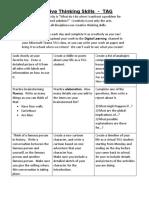 choice board tag creative thinking skills