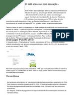Boleto IPVA RJ 2020 está acessível para sensação » FDR.com.br
