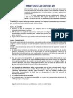 PROTOCOLO COVID 19 ALMACENES