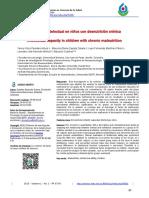Capacidad intelectual en niños con desnutrición crónica