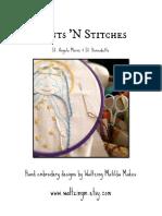 St. Angela Merici & St. Bernadette / PDF Instant Download Pattern / Hand Embroidered Saint Dolls