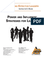 Power and Influence Strategies for Leaders
