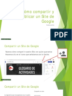 Cómo Compartir y Publicar Un Site de Google