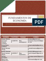 FUNDAMENTOS DE ECONOMIA Unidad II
