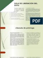 CLÁUSULA DE LIBERACIÓN DEL PROTESTO